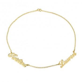 14k Yellow Gold Multi-Name Mom Bracelet
