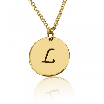 18 karat gold plated charm one letter pendant personalized jewelry