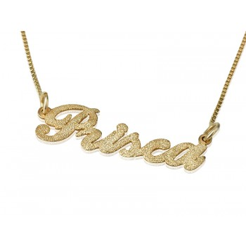 Sparkling name necklace in 18 karat gold personalized jewelry