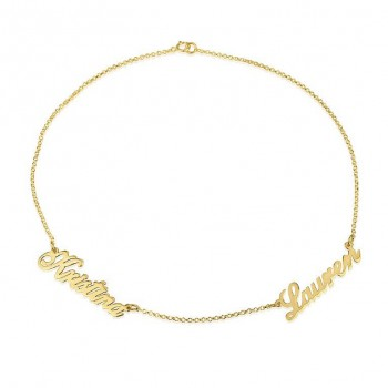 18k gold plated name necklace up to five names