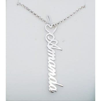 Amanda name necklace vertical personalized jewelry