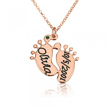 Rose gold name necklace