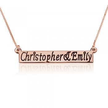 Custom name necklace rose - up to 15 letters