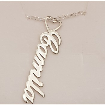 Camila Name Necklace yellow gold