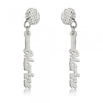 Custom earrings in white gold