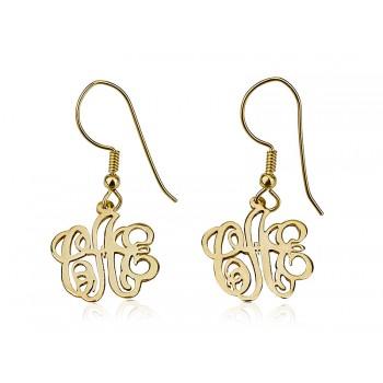 Dangling 18k Gold Plated Personalized earrings by PersJewel