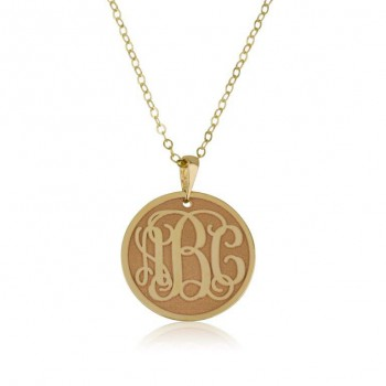 Gold monogram pendant coin 10k gold + chain solid gold