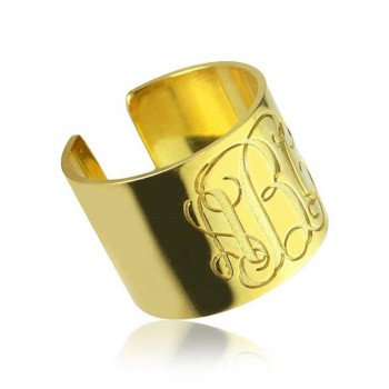 Monogram Open ring in 10k solid gold