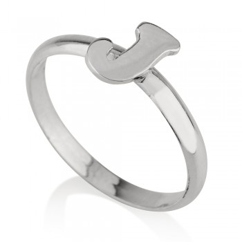 Initial ring sterling silver custom jewelry - One letter personalized jewelry