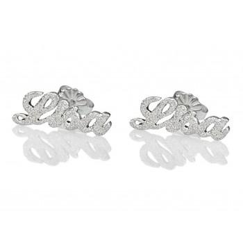 elegant stud silver earrings that sparkle