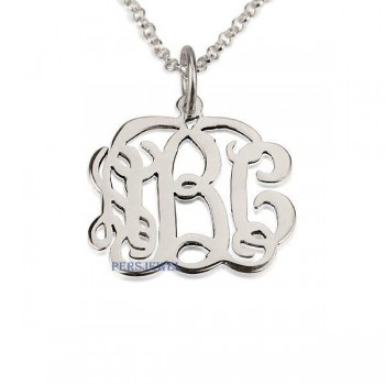 Monogram initials 14k white gold up to 3 letters