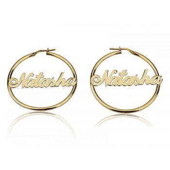 Hoop name Earrings