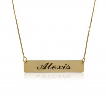 personalized name necklace bar