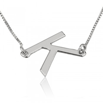 Initial Necklace in Sterling Silver Personalized jewelry