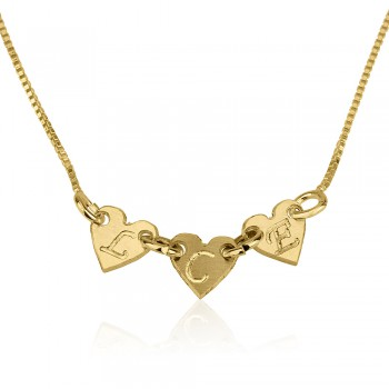Personalized Initial Necklace 18k gold plate