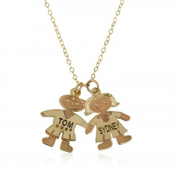 (Boy or Girl) Engraved Mom name Necklace