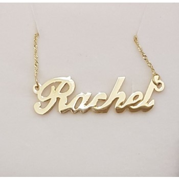 Rachel 18K Gold Plated Name Necklace