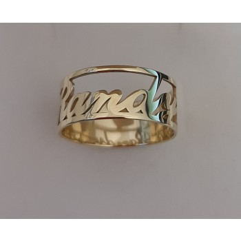 """10k Solid Yellow Gold Gleaming """"Randy"""" Open Design Ring"""