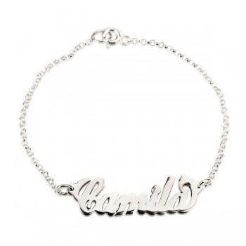 925 Silver Mom Bracelet with Name Charm