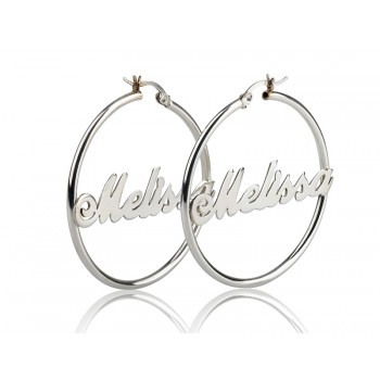 Earrings in a Hoop name design up to 12 letters