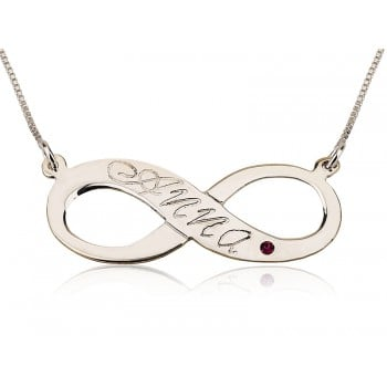 Up to 2 names Engraved Infinity Diamond name necklace personalized jewelry