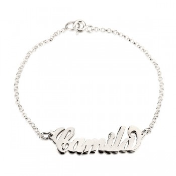 Sterling Silver Name Necklace Bracelet with simulation of your name