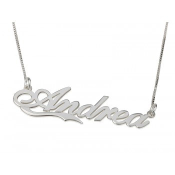 0.925 Sterling Silver Small Lower Line Name Necklace - the perfect gift from PersJewel