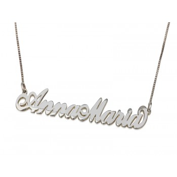 Sterling Silver Two Capital Letters Name Necklace Personalized jewelry