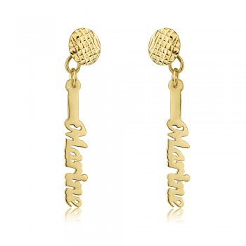 Elegant Earrings - Gold plate vertical design
