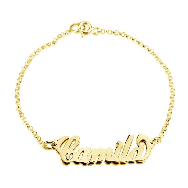10 Karat Solid Gold Engraved Bracelet With Your Name On It