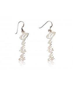 0.925 Sterling Silver custom Vertical Earrings