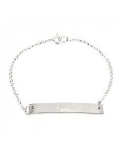 10k Solid White Gold custom made Arabic Bar Bracelet PersJewel brand