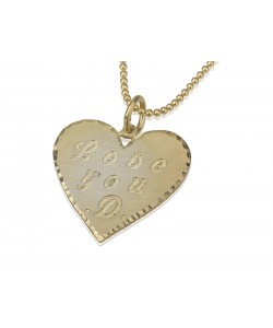10 karat solid gold engraved heart shape personalized jewelry