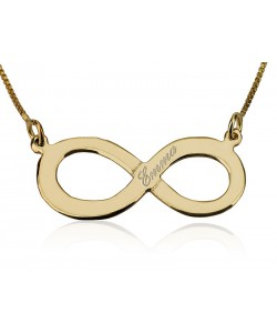 Infinity custom jewelry - 10k gold name necklace