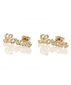 Real Gold Stud Designed earrings