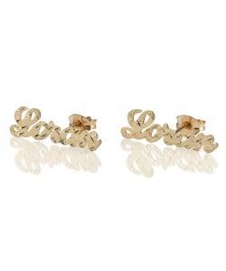 Real Gold Stud Designed earrings