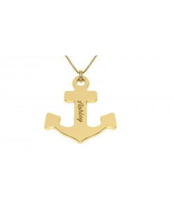 10k solid gold Anchor Custom jewelry with name engraving