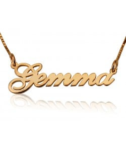 4K Solid Yellow Gold Name Necklace Jessica