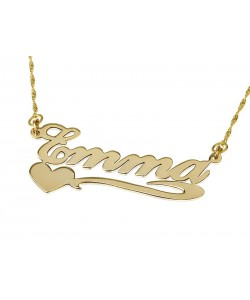 14k Gold Necklace new lower heart look