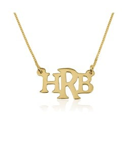 gold letters jewelry