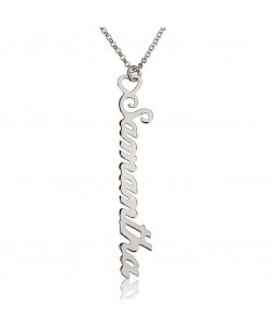 14k White Gold Vertical Custom Charm Necklaces for Moms