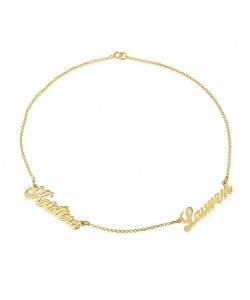 14k Yellow Gold Multi-Name Mom Bracelet