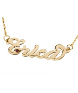 18K Gold Plated Lower Swarovski Name Necklace