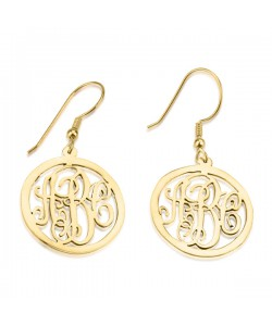 Up to 3 letters Monogrammed Earrings personalized jewelry -PersJewel