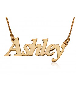 Name necklace in gold plated any name personalized jewelry by PersJewel