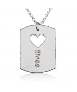 14k White Gold Necklace with Name Engraved