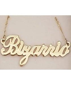 Bizarrio 18K Gold Plated Name Necklace