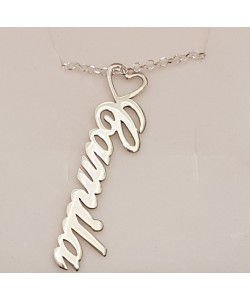 Camila Name Necklace silver