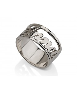 Custom gold ring in 14k white gold jewelry with any name or word personalized jewelry any size