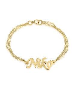 Double chain 10k gold Custom ankle bracelet
